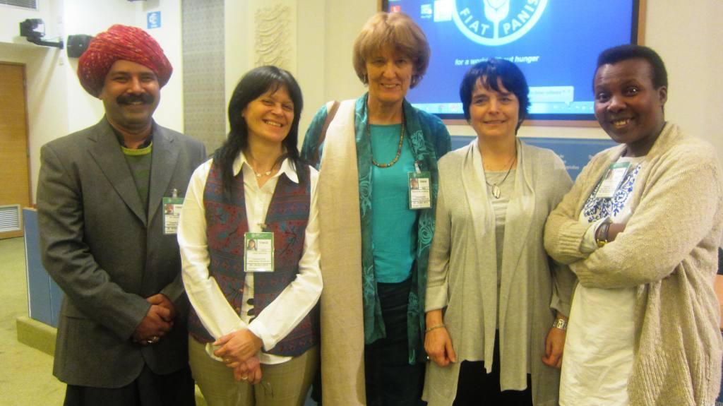 Rao Abdul Qadeer, Maria Rosa Lanari, Ilse Koehler-Rollefson, Elzbieta Martyniuk, Elizabeth Katushabe (left to right)