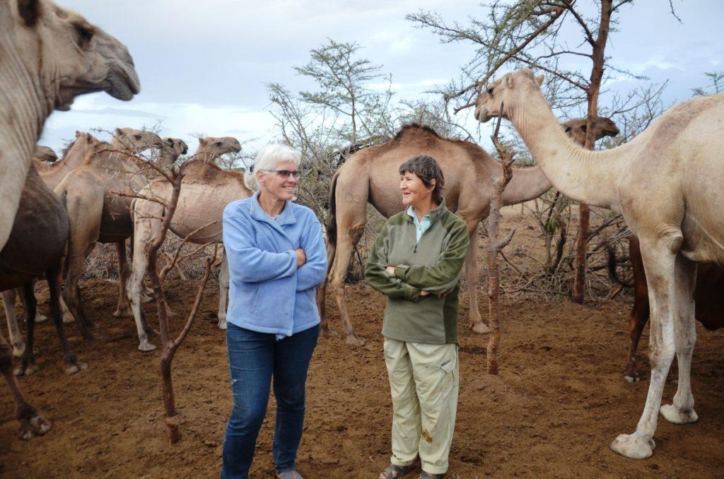 Two important actors in Kenya's camel scene: Anne Bruntse (l) and Amanda Perrett